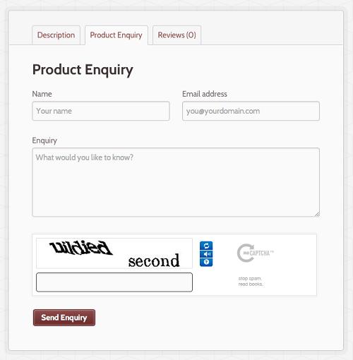 WooCommerce Product Enquiry Form