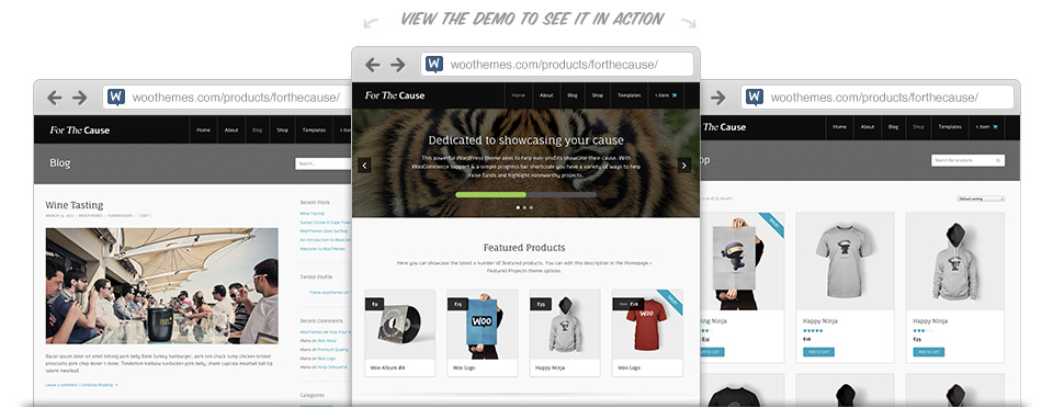 WooThemes For The Cause WooCommerce Themes