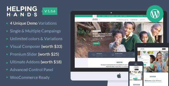 HelpingHands - Charity/Fundraising WordPress Theme