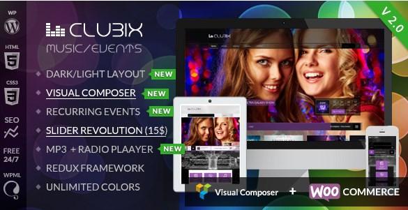 Clubix - Nightlife, Music & Events WordPress Theme