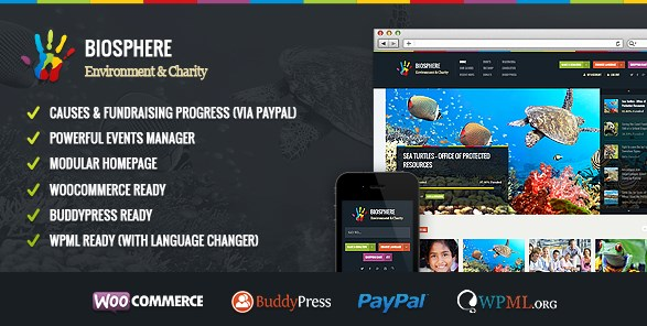Biosphere - Environmental & Charity WP Theme