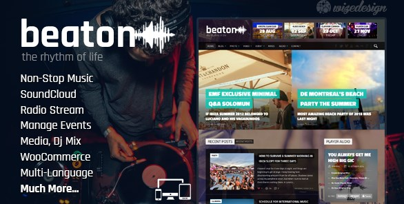 Beaton - Music Radio & Events WordPress Theme