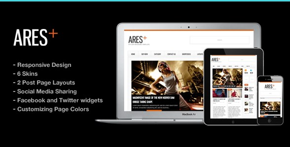 Ares Blog Magazine Newspaper Template