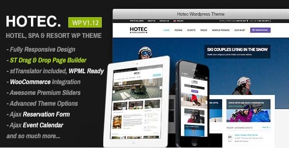 Hotec - Responsive Hotel Spa & Resort WP Theme