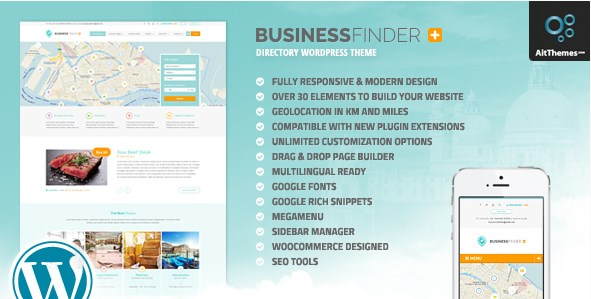 Business Finder - Directory Listing WordPress Theme