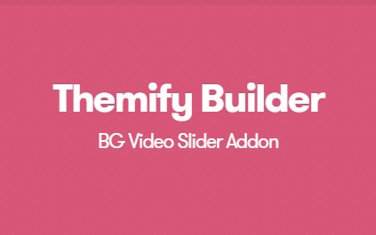 Themify Builder BG Video Slider Addon